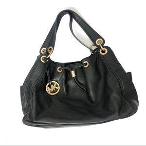 Michael Kors Black Leather Ludlow Bag Purse